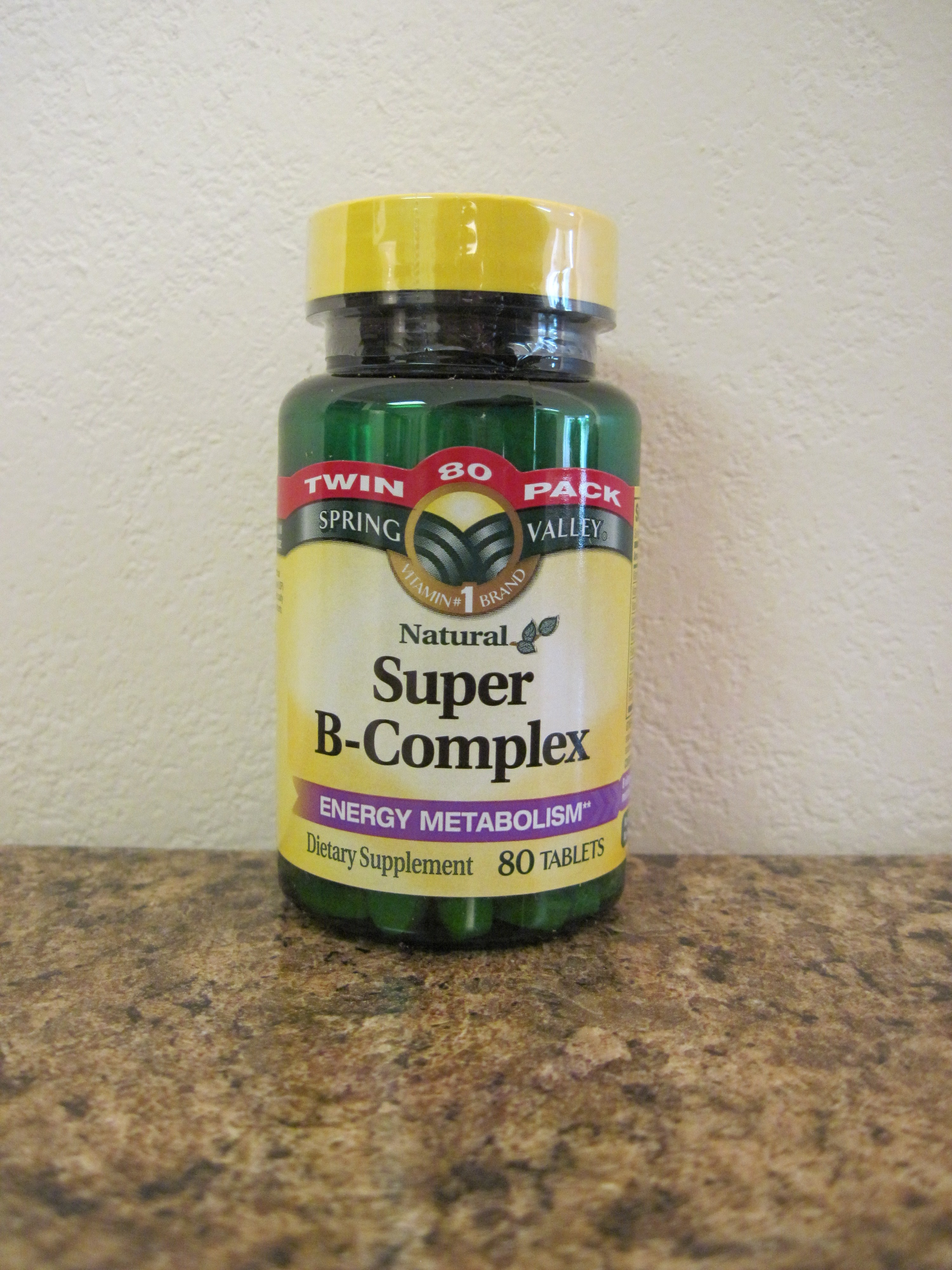 Spring Valley Natural Super B-Complex Tablets, 80 count