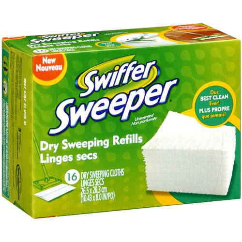 Swiffer Sweeper Dry Sweeping Refill Cloths, Unscented, 16 ct