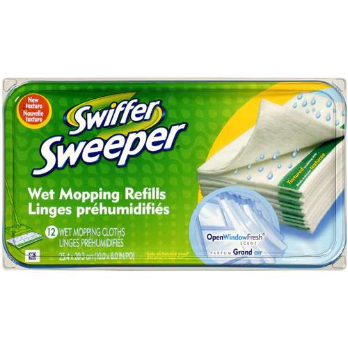 Swiffer Sweeper Wet Mopping Refill Cloths, 12 ct