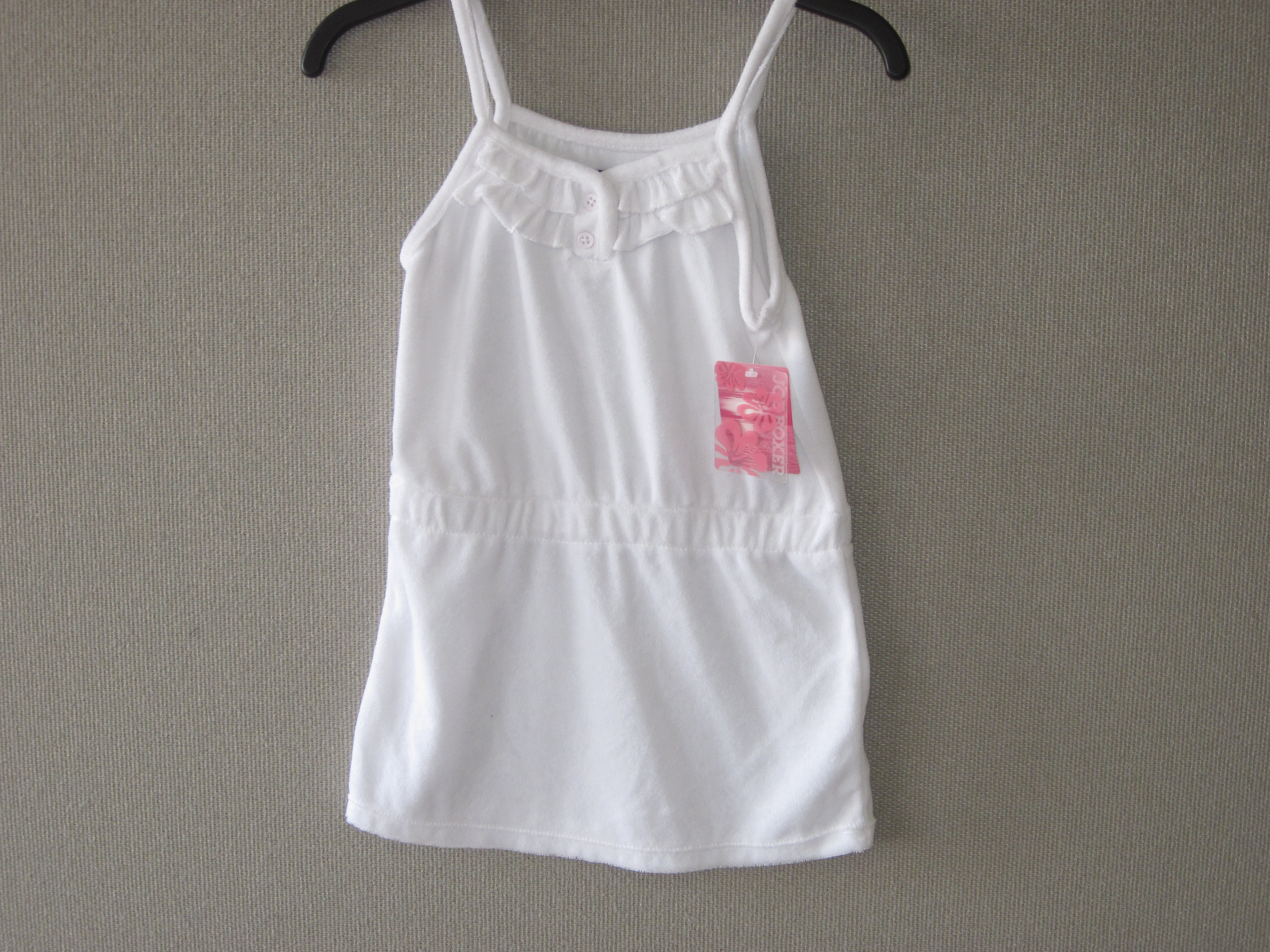 Joe Boxer Girls Sz S(6/6X) Terry Cover-Up(white)