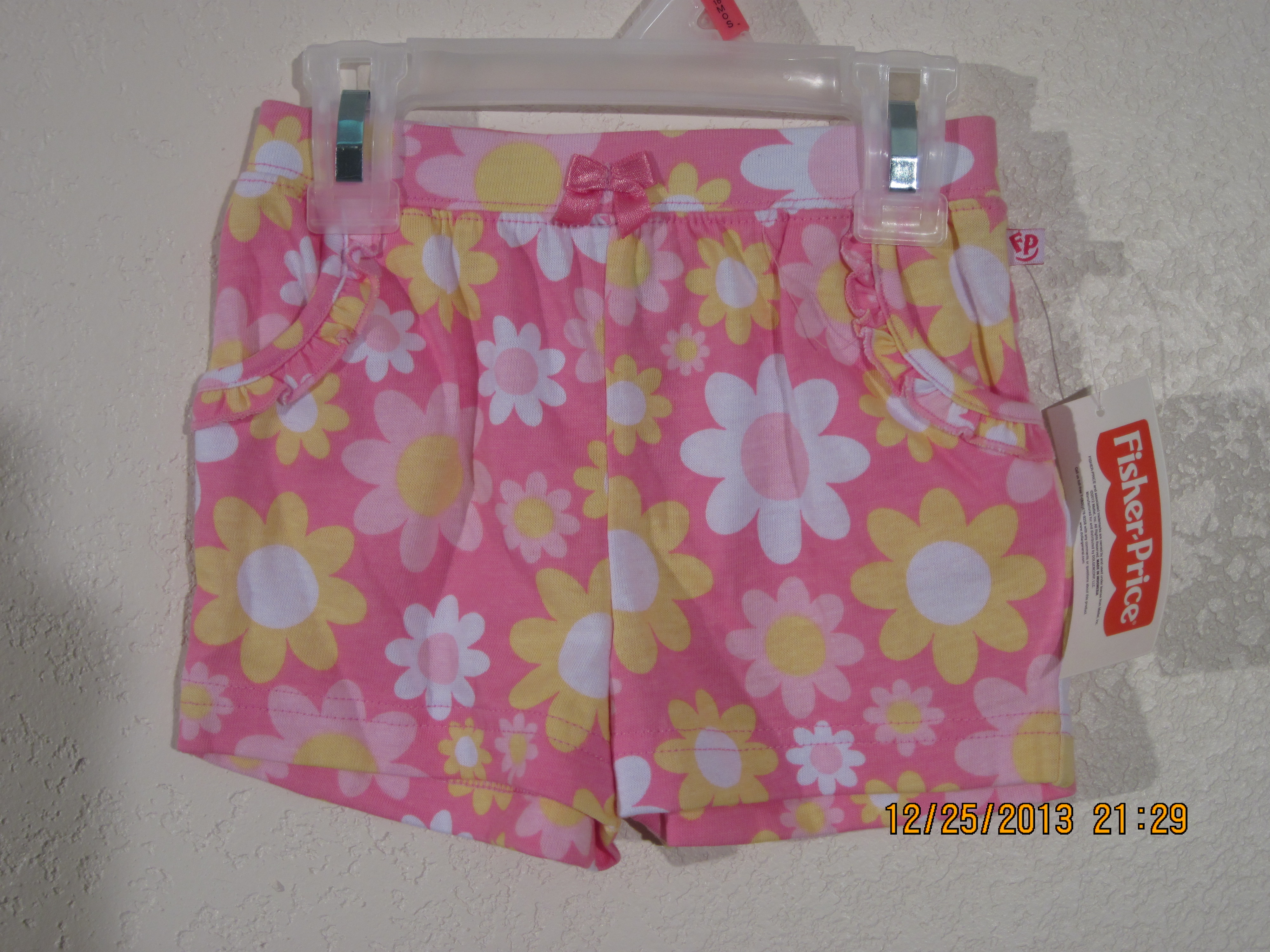 Fisher Price Sz 12M Pink Flowered Shorts