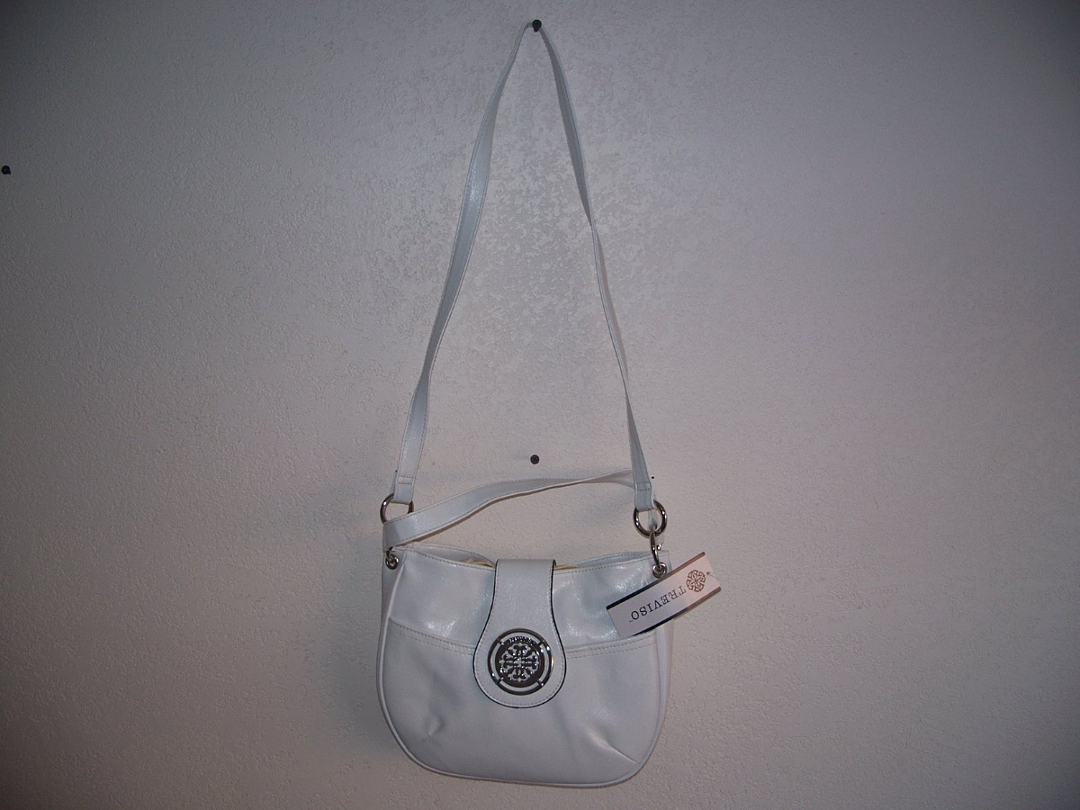 Treviso Mini Hobo Purse (white)