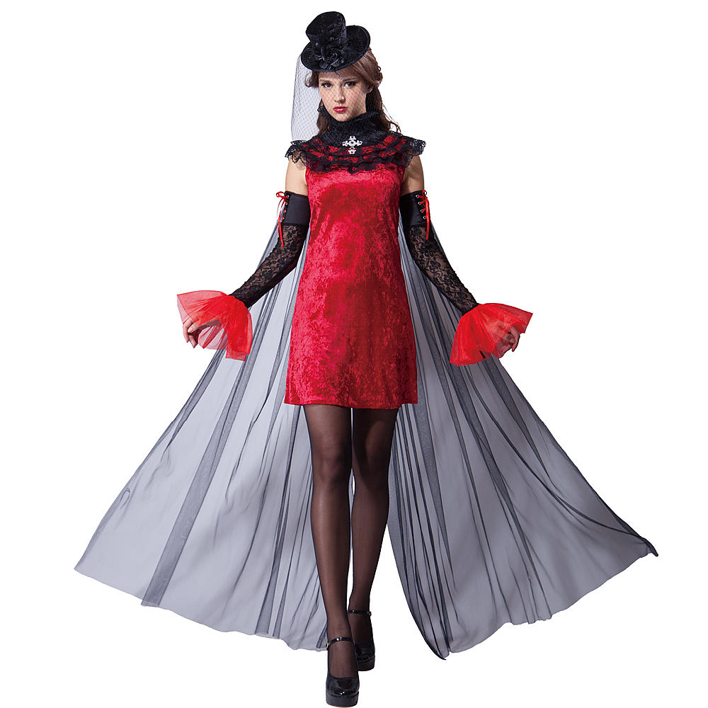 Totally Ghoul Women's Vampiress Dress Halloween Costume One Size