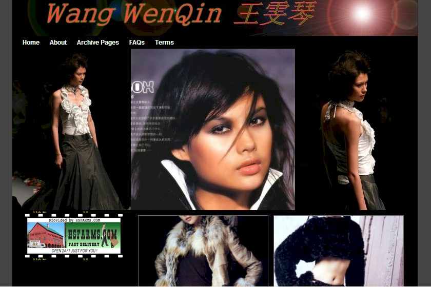 Premier Domain Name from Wang WenQin Top Chinese Model