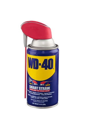 WD-40 Lubricant, Smart Straw Can, 8 oz