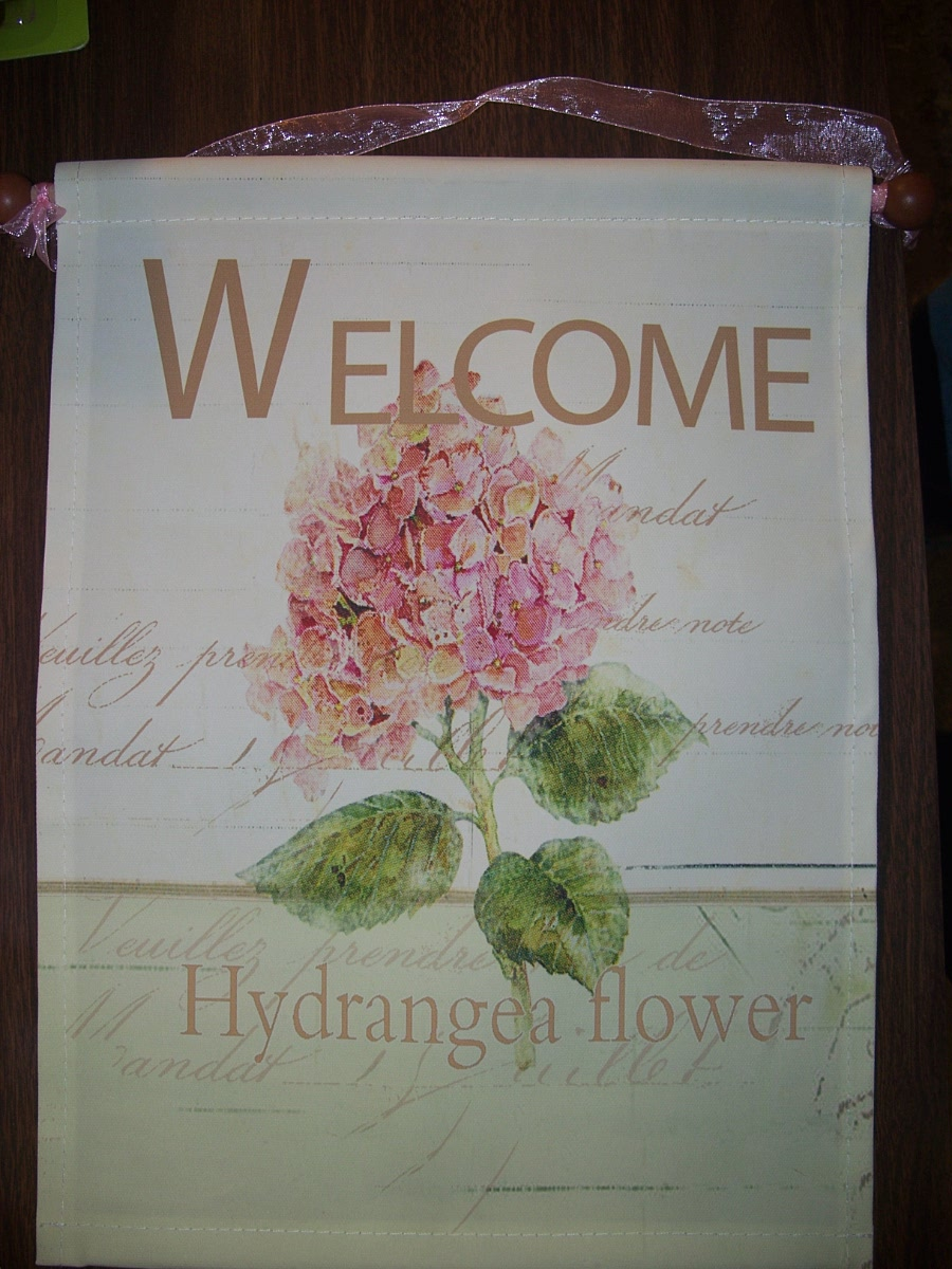 Decorative Banner ( Welcome Hydrangea Flower )
