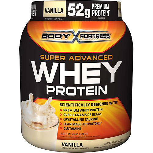 Body Fortress Super Advanced Whey Protein Powder Vanilla, 2 lb