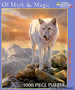 White Mountain Puzzles Of Myth & Magic Wolf by Bopnnie Marris