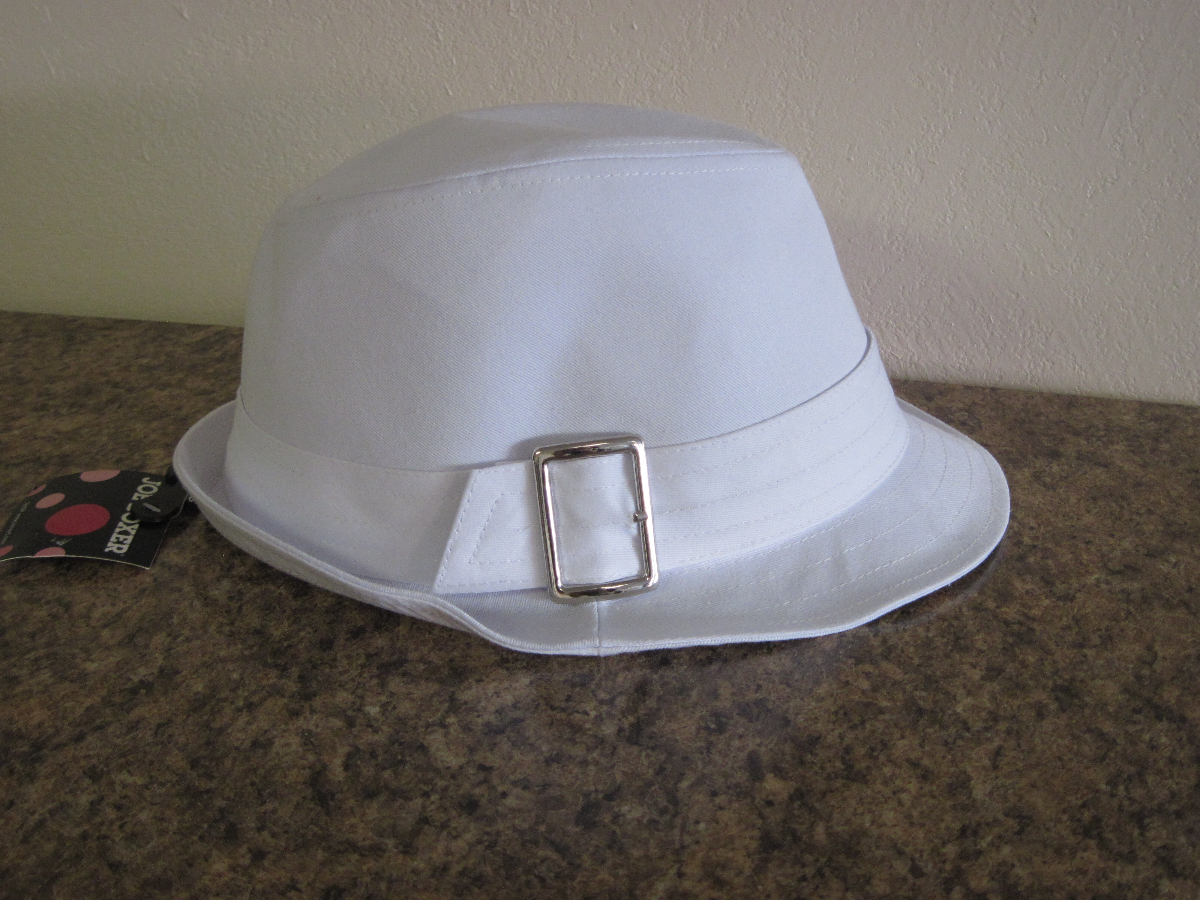Joe Boxer Womens White,Metal Buckle Fedora Hat - One Size