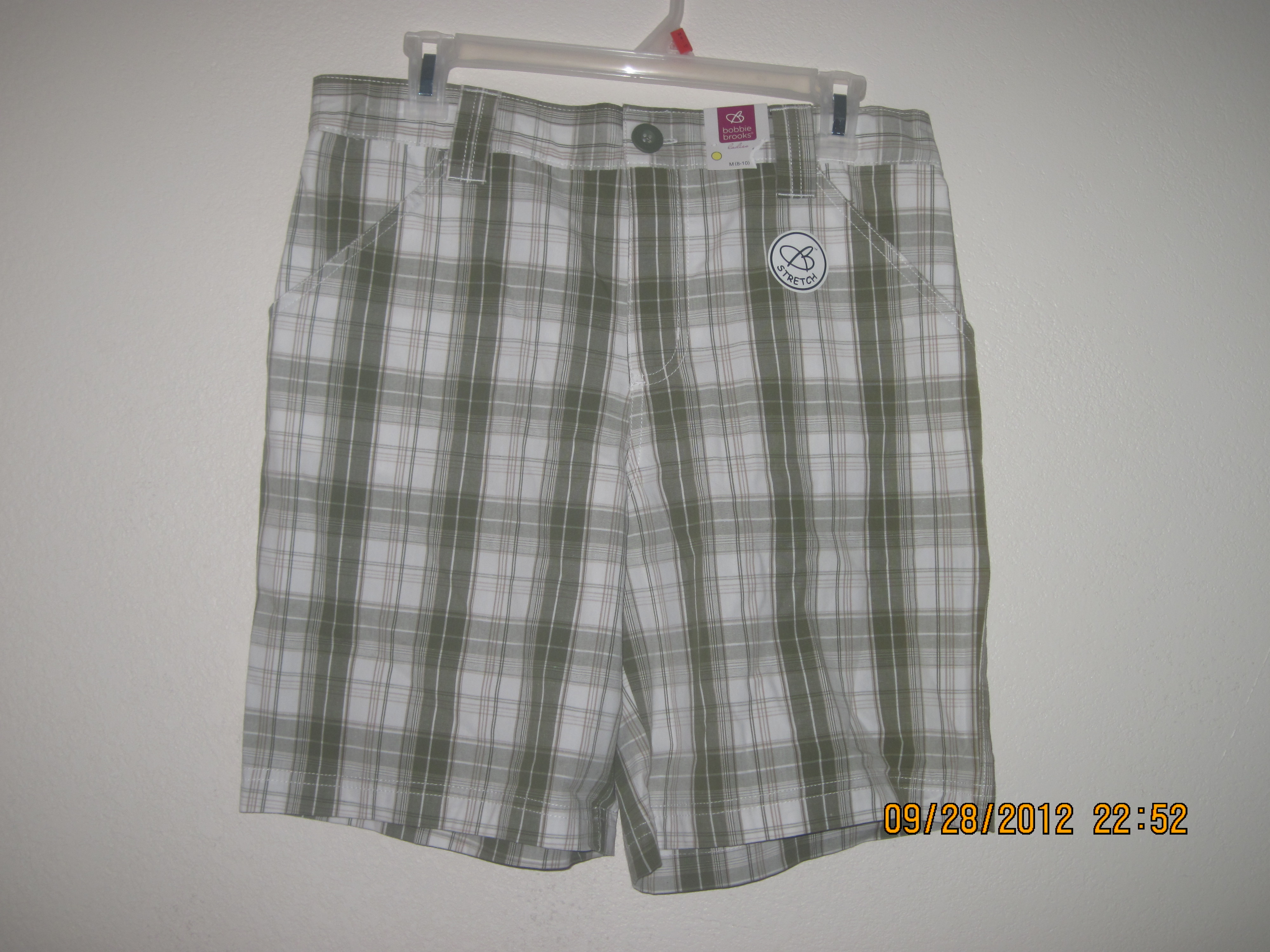 Bobbie Brooks Green Stretch Plaid Shorts Sz 1X 16-18