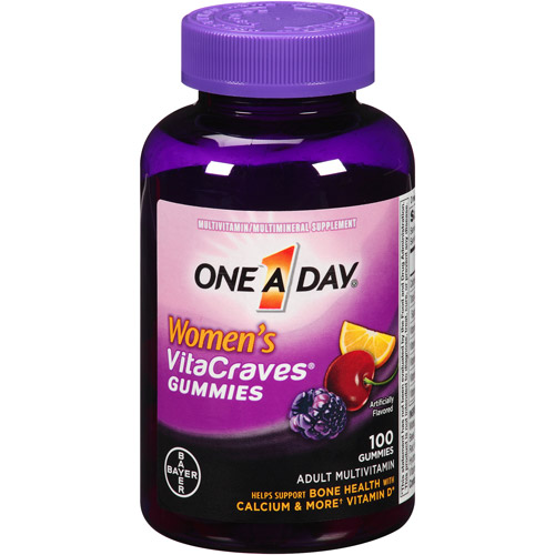One A Day Women's VitaCraves Gummies Adult Multivitamin With ca
