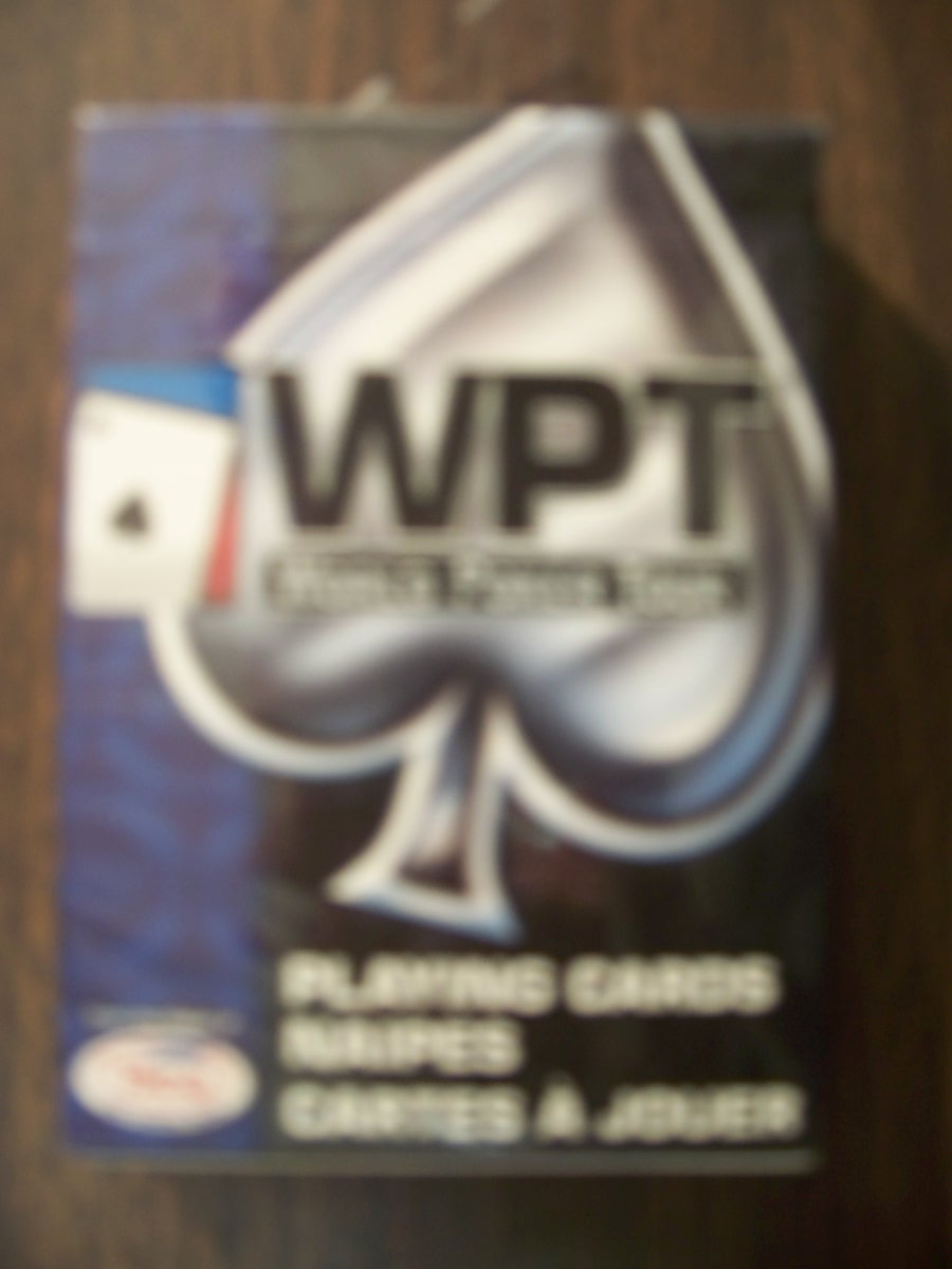 World Poker Tour Playing Cards Blue