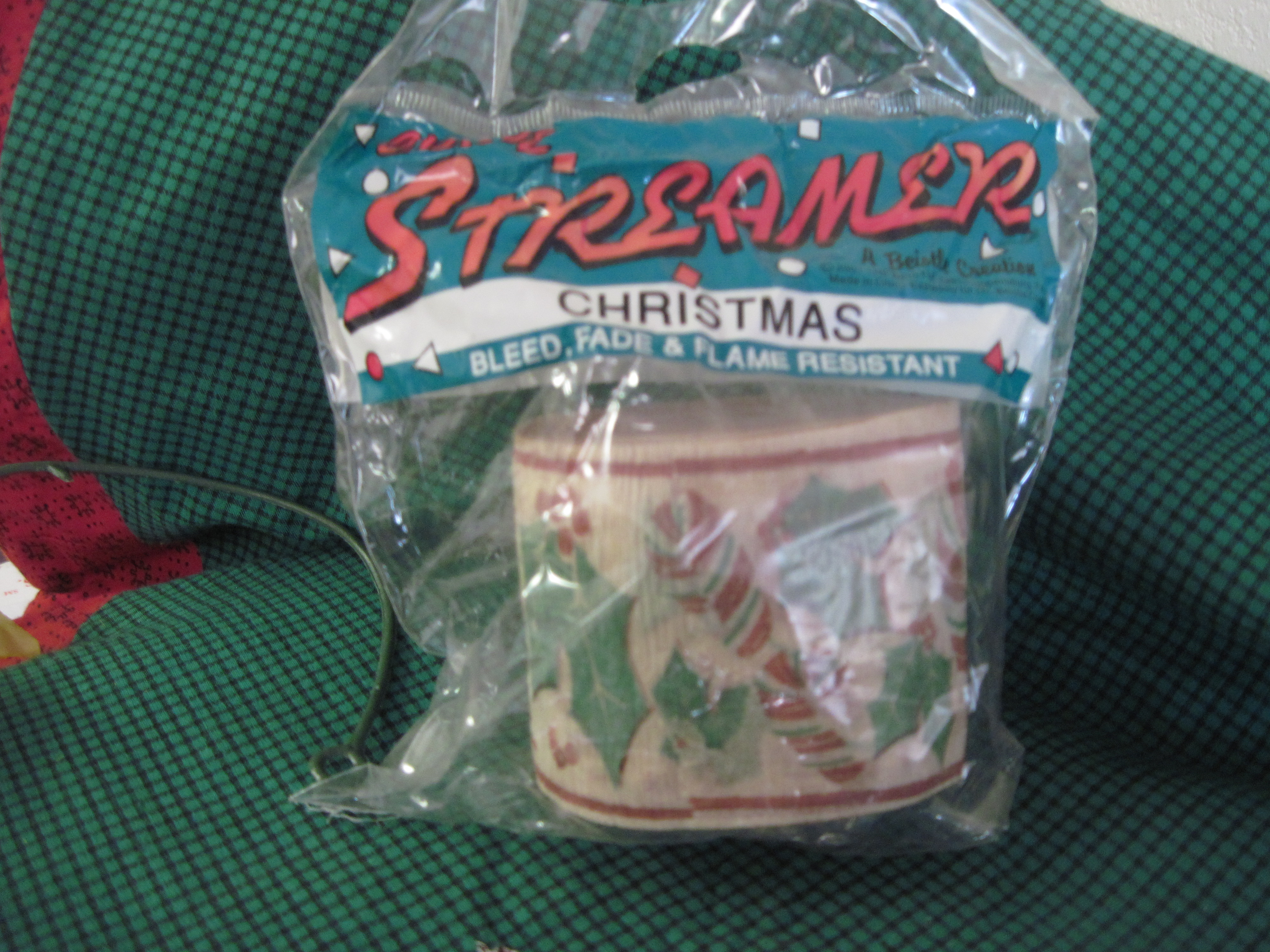 Christmas Streamer - Candy Canes & Holly