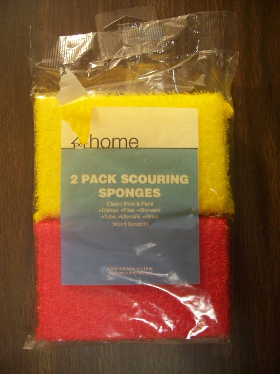 2 pk Scouring Sponges (yellow & red)