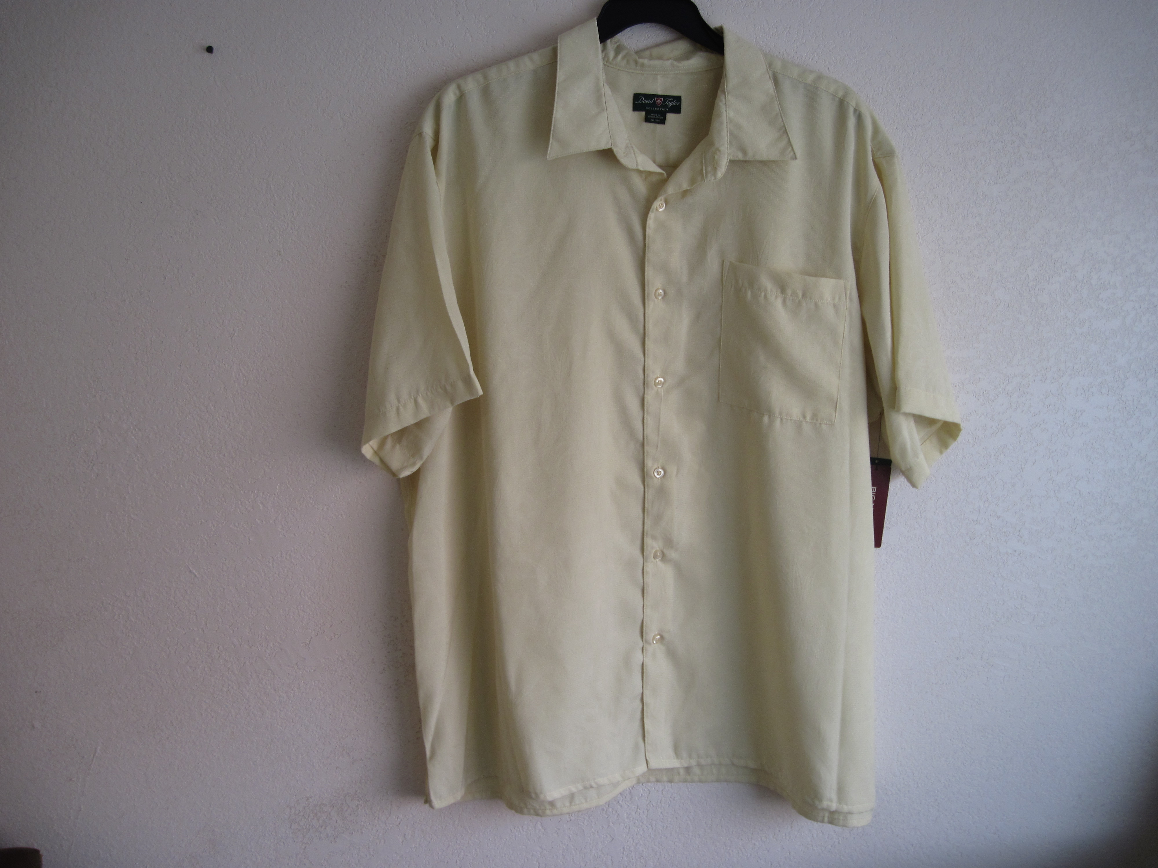 David Taylor Sz 2XL Mens Shirt (Yellow)