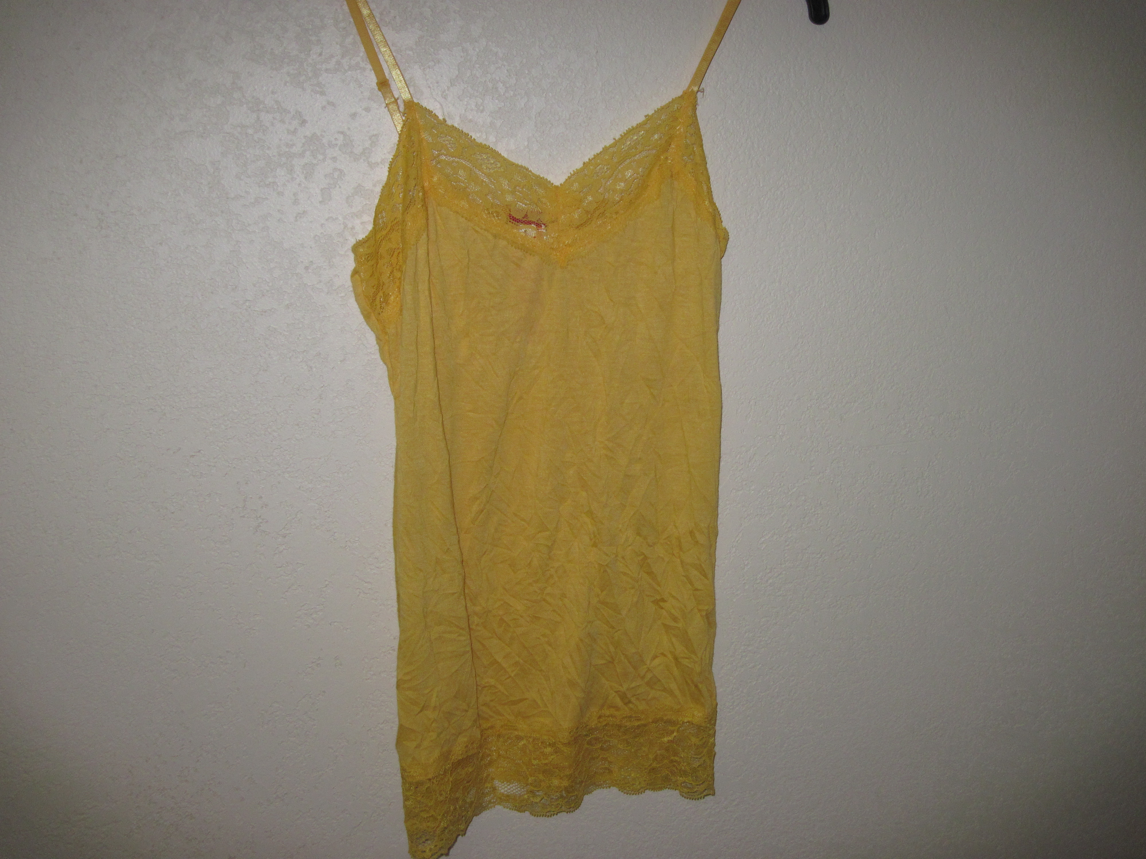 Bongo Sz Small Juniors EGP Crinkle Cami yellow